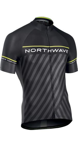 Northwave Logo 3 Jersey SS Men black/yellowflu